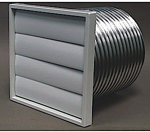 Manrose 1280 150 mm Wall Fixing Kit with Aluminium Flexible Ducting and External Wall Grilles