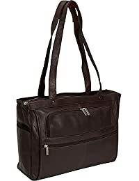 David King & Co. Women's Multi Pocket Briefcase Plus, Chocolate, One Size