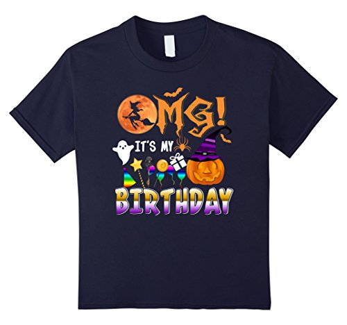 Kids Omg Halloween Candy 2017 It's My Birthday T-shirt 12 Navy (My Candy Love Halloween 2017)