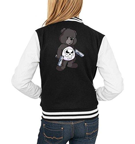 Punisher Bear College Vest Girls Negro Certified Freak