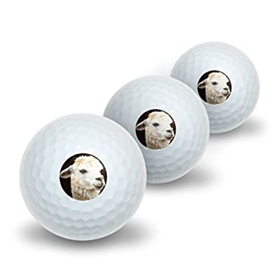 White Llama Novelty Golf Balls 3 Pack