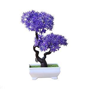 heaven2017 Artificial Plant Tree Bonsai Fake Mini Potted Ornament Home Hotel Garden Decor 62