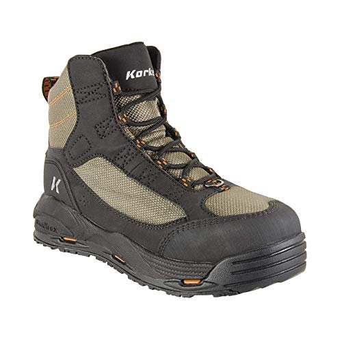 (Korkers Greenback Wading Boot with Felt Sole, Dried Herb/Black, Size 14)