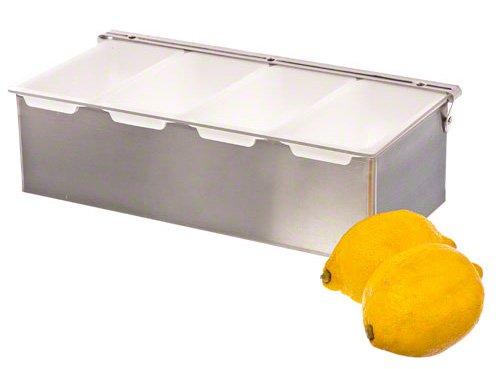 Update International CD-4 4-Compartment Condiment Holder Green