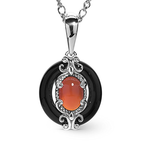 Red Agate Gemstone Necklace - 1