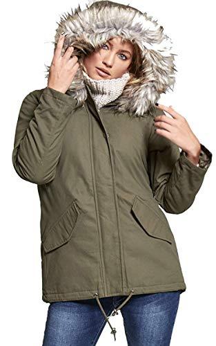 larga Aarhon 95 Abrigo color manga para de caqui mujer qwE80g