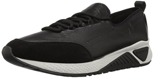 - Diesel Men's SKB S-KBY Leather-Sneakers, Black, 7 M US