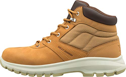 Helly Hansen Men's Montreal V2 Waterproof Leather Winter Boot with Grip, New Wheat/Coffee Bean/Natural, 13