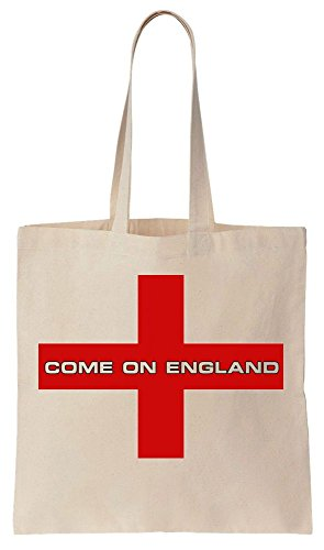 Come on England Football Flag Sacchetto di cotone tela di canapa