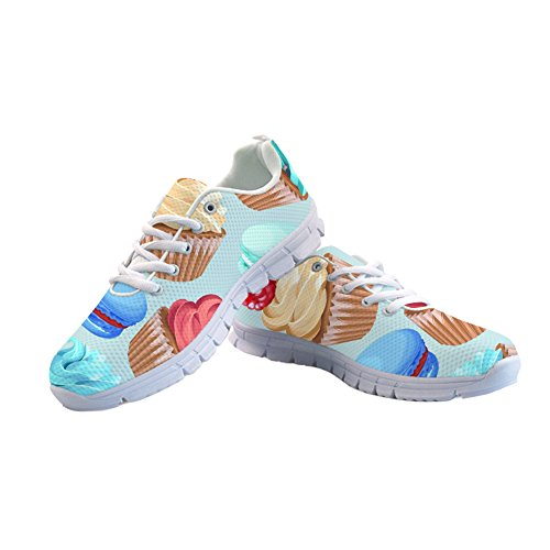 up Shoes Running Printed Cute Girls Lace Cake Stylish Women's Sneaker Casual Breathable x01YY8wf