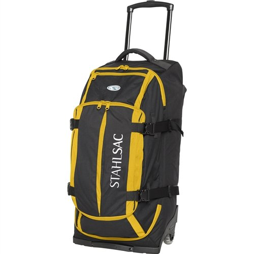 Stahlsac by Bare Curacao Clipper Travel Roller Duffel Dive Bag (Black/Yellow)