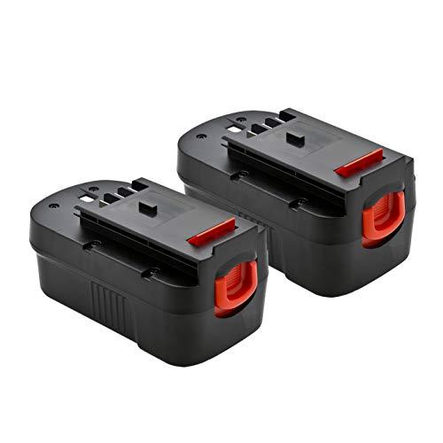 2 Pack ExpertPower 18v 1500mAh NiCd Battery for Black & Decker 244760-00 A18 HPB18 HPB18-OPE Firestorm A18 FS180BX FS18BX FS18FL FSB18