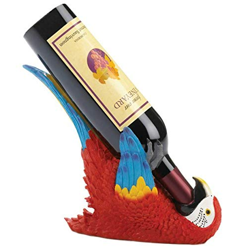 Accent Plus Colorful Parrot Wine Holder