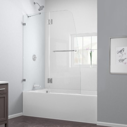 DreamLine SHDR-3348588-04 Brushed Nickel AQUA LUX Aqua Lux Hinged Shower Door 48