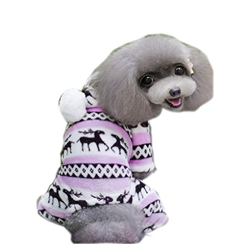 haoricu Puggy Clothes, autumn Stylish Pet Dog Warm Clothes Puppy Jumpsuit Hoodie Coat Doggy Apparel Hoodies Costume Apparel (XXL (XL, Pink)