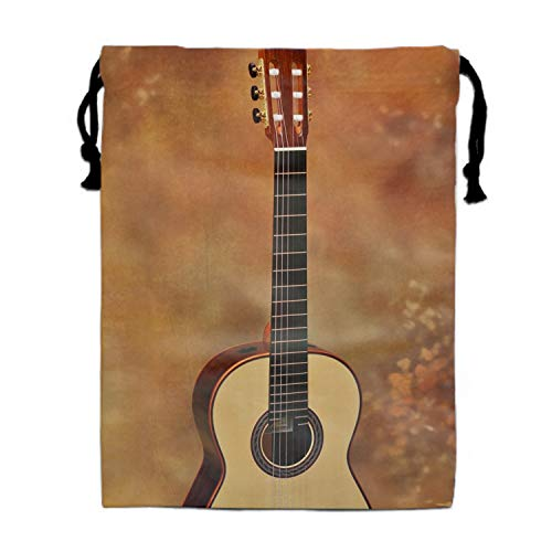 Classic Guitar Drawstring Bags Party Favors Pouch Tote