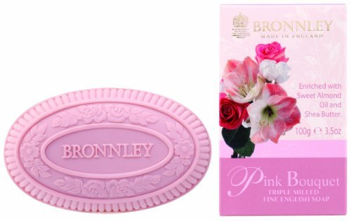 Bronnley Pink Bouquet Triple Milled Fine English Soap 100g by Bronnley