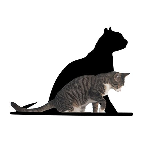 Cat Silhouette Cat Shelves Gaze Black by Refined Pet Products