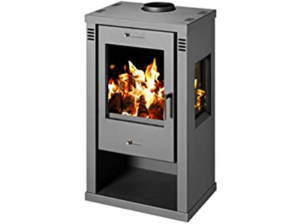 Estufa de leña chimenea Log quemador de cerámica vidrio de la madera para chimenea 7,