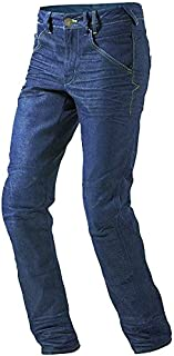 JET Motorcycle Jeans Kevlar Safety Trousers Protective Aramid Lined Jeans Armoured(Blue W 32 L 30)