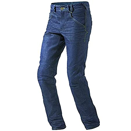 JET Pantalon Moto Hombre Jeans Kevlar Aramid Con Armadura (54 Corto/Cintura 38' Longitud 30'(2XL), Azul) Jet Motorcycle Wear KelvarJeans