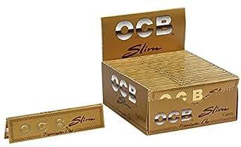 OCB - Caja de 50 Papeles de Liar Dorados Premium