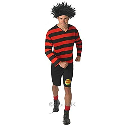 The Beano Dennis The Menace - Adult Licensed Fancy Dress Costume Men : X Large
