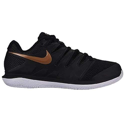 Nike Women's Air Zoom Vapor X Black/Metallic Gold/White 8 B -