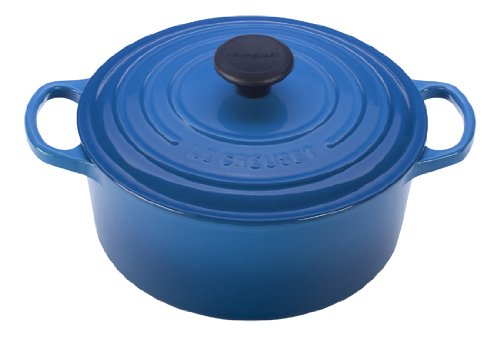 Le Creuset Signature Enameled Cast-Iron 1-Quart Round French (Dutch) Oven, Marseille