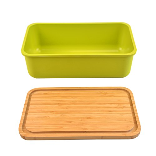Kinwell Bamboo Fiber Large Bread Box For Kitchen With