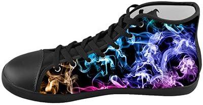 Daniel Turnai Fan Customized Color Light Abstract Smoke Top Canvas Kids Shoes