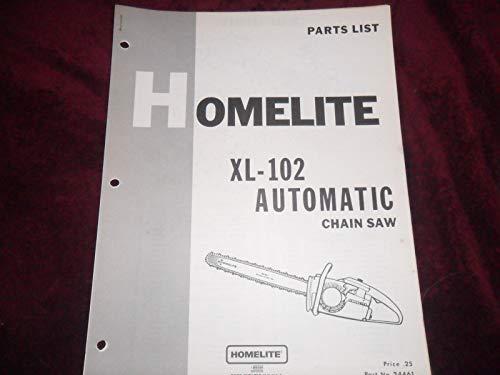 HOMELITE Chainsaw Parts List XL-102 Automatic - BOX874RR
