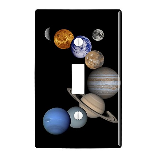 Venus Solar System - Graphics and More Solar System Planets Mercury Venus Mars Earth Moon Jupiter Saturn Uranus Neptune Plastic Wall Decor Toggle Light Switch Plate Cover