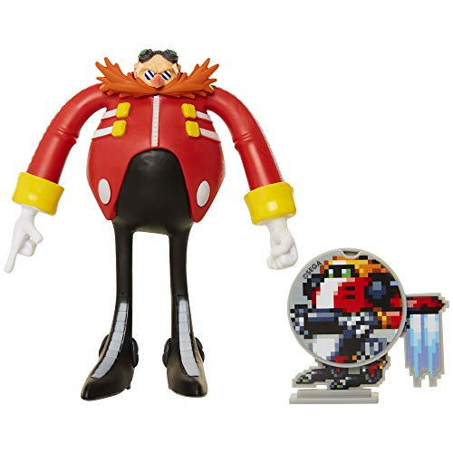 Sonic The Hedgehog Collectible Eggman 4″ Bendable Flexible Action Figure with Bendable Limbs & Spinable Friend Disk Accessory Perfect for Kids & Collectors Alike! for Ages 3+
