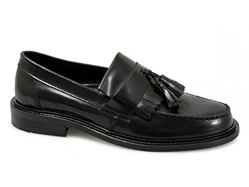 Skinn Dusk Selecta Ikon Loafers Sorte Polert Uk 8 Menns qt1Iv