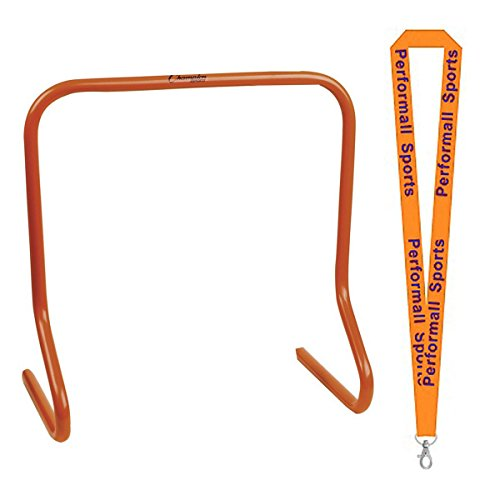 Champion Sports Speed Hurdles 18 inch Orange Bundle with 1 Performall Lanyard PH18-1P by Champion Sports