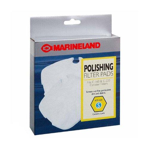 Marineland Canister Filter C-160 & C-220 Polishing Filter Pads, Rite-Size S by MarineLand B0044MX1VA