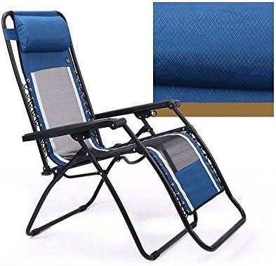Chaise Longue inclinables Chaise Longue de Loisirs, inclinable Pliant portatif avec Appui-tête démonté Chaise paresseuse intérieure de Sieste pour Le Jardin de Salon extérieur