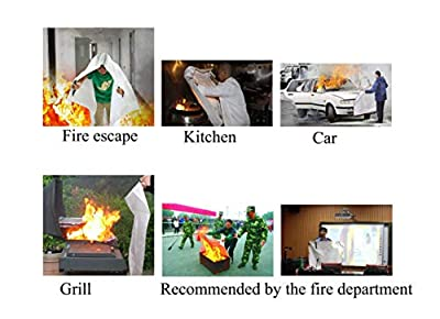 TONYKO Emergency Surival Fire Blanket, Flame Retardant Protection and Heat Insulation Designed for Kitchen,Fireplace,Grill,Car,Camping