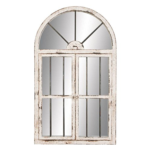 (Deco 79 Wood Window Mirror, 42 by 25