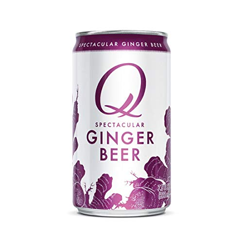 Q Ginger Beer, Premium Ginger Beer: Real Ingredients & Less Sweet, 7.5 Fl ounces, 24 Cans