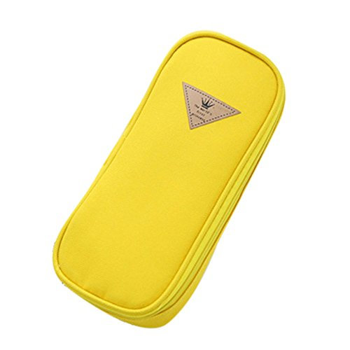 Cosanter Federmappe Super große Kapazität Bleistift Beutel Federtasche Federmäppchen für Gläser, Stifte, Radiergummi und andere kleine Gegenstände Yellow