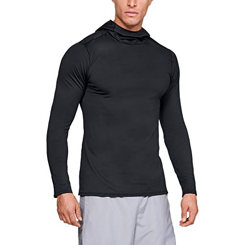 Under Armour Men's Fitted Coldgear Hoodie, Black (001)/Charcoal, Large