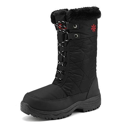 DREAM PAIRS Women's Goose Black Faux Fur Knee High Winter Snow Boots Size 10 M US from DREAM PAIRS