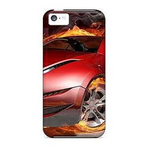 New Arrival FSGkjAf2537SFWjJ Premium Iphone 5c Case(car On Fire)