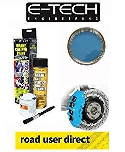 E-Tech Brake Caliper Paint - SKY BLUE - Complete Kit Inc Paint/Cleaner & Brush