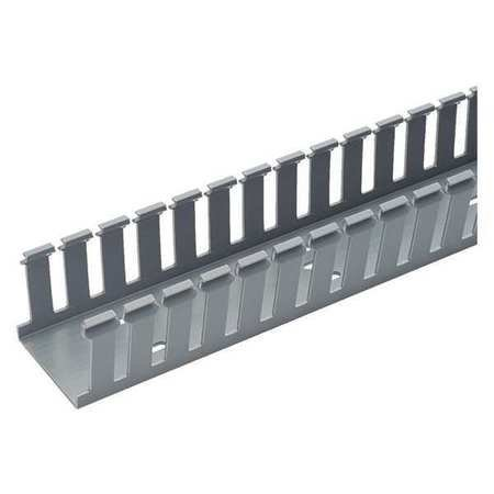 Wire Duct, Wide Slot, Gray, 1.75 W x 1.5 D