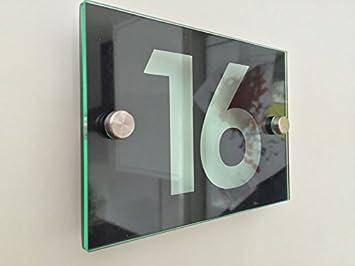 Hausnummer Modern amazon de house schild hausnummer modern style