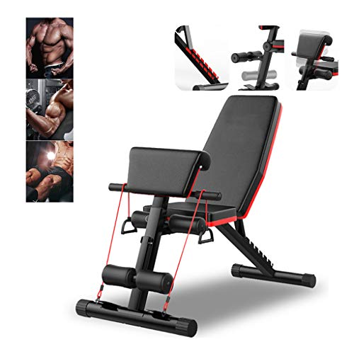 WY Adjustable Weight Bench Workout Bench Foldable 4 In 1 Home Gym Equipment Weights Set Bench Workout Training Leg…