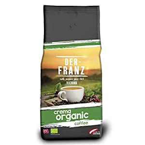 Der Franz, caffè Crema biologico UTZ, chicchi interi, 1000 g